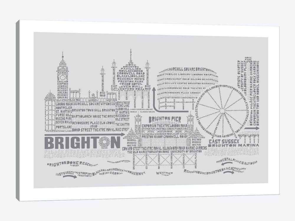 Brighton, Dove & Slate by Citography 1-piece Art Print