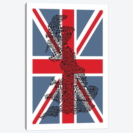 Britain, Red & Blue Canvas Print #AAA17} by Citography Art Print