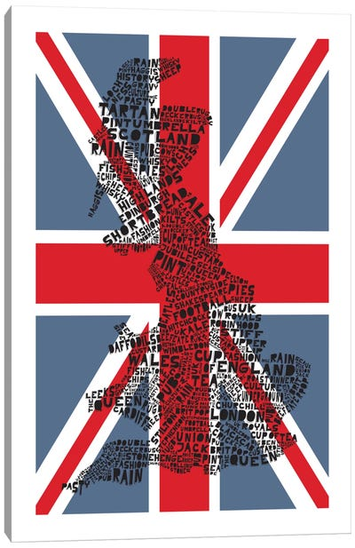 Britain, Red & Blue Canvas Art Print