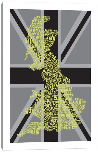 Britain, Union Gray Canvas Art Print
