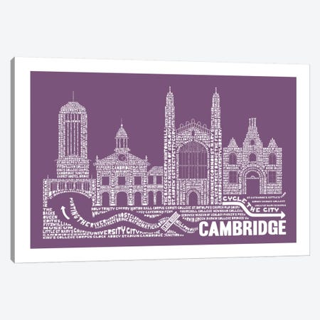 Cambridge, Frosted Berry Canvas Print #AAA19} by Citography Canvas Wall Art