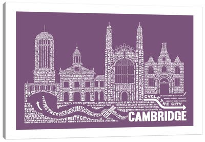 Cambridge, Frosted Berry Canvas Print #AAA19