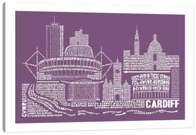 Cardiff, Frosted Berry Canvas Art Print