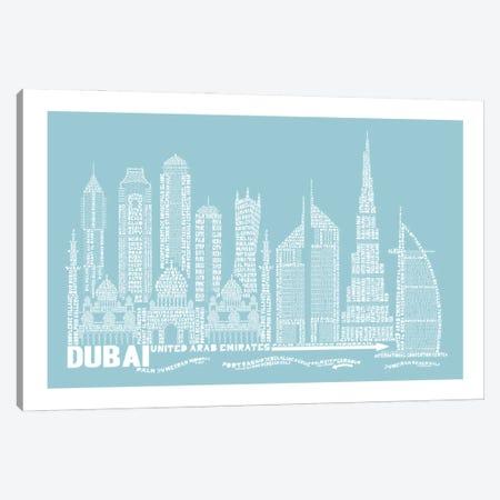 Dubai, Aqua Canvas Print #AAA23} by Citography Canvas Art Print