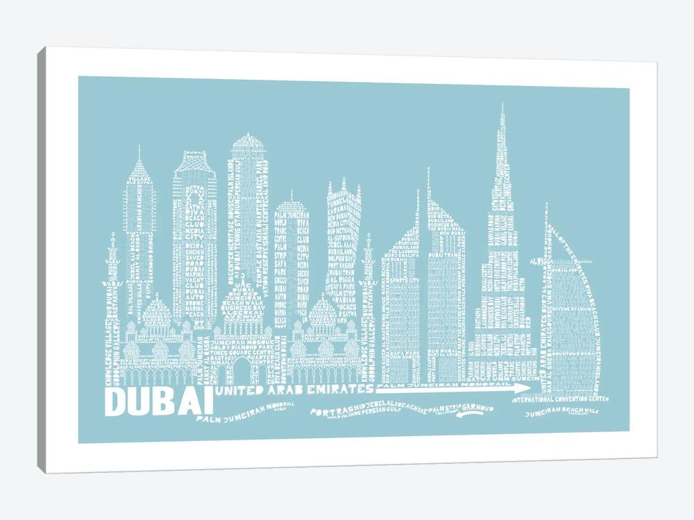 Dubai, Aqua by Citography 1-piece Canvas Artwork