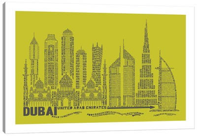 Dubai, Lime Canvas Print #AAA24