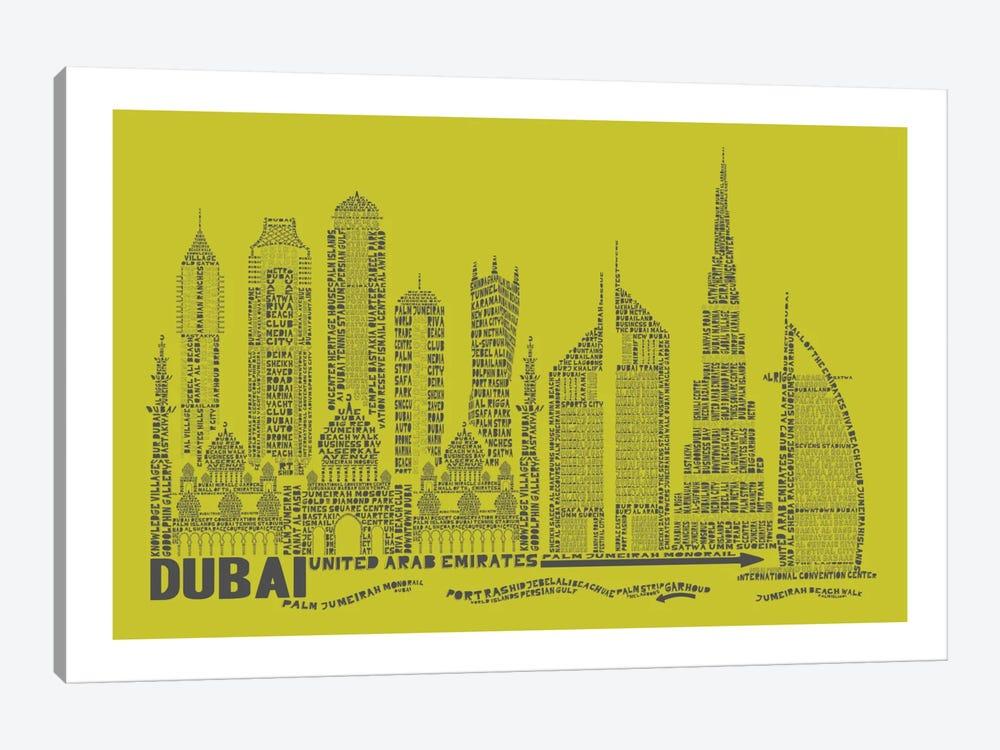 Dubai, Lime by Citography 1-piece Art Print