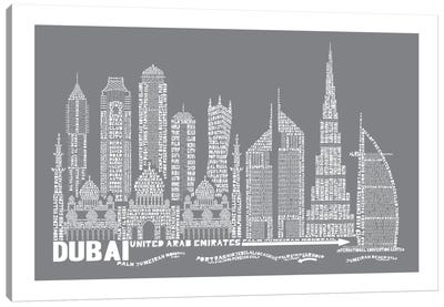 Dubai, Slate Canvas Art Print