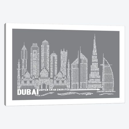 Dubai, Slate Canvas Print #AAA25} by Citography Canvas Wall Art