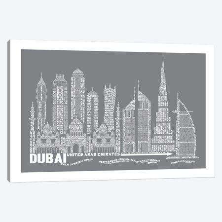 Dubai, Slate Canvas Print #AAA25} by Citography Canvas Wall Art