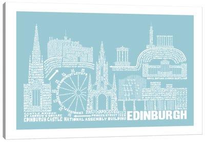Edinburgh, Aqua Canvas Print #AAA26