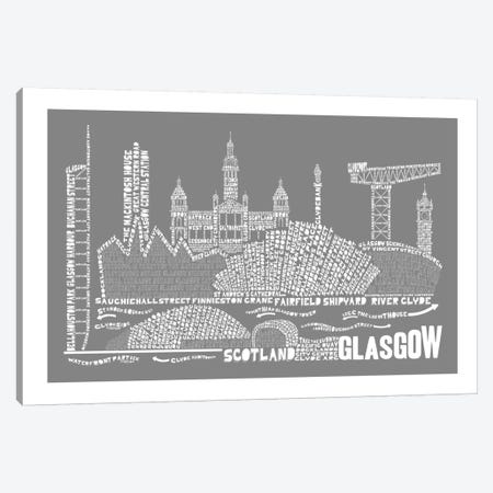 Glasgow, Slate Canvas Print #AAA29} by Citography Canvas Art Print