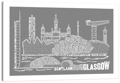 Glasgow, Slate Canvas Art Print
