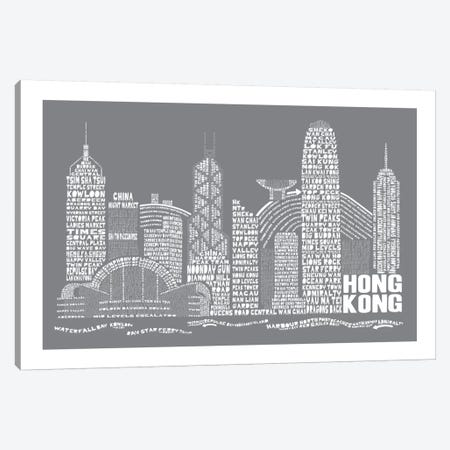 Hong Kong, Slate Canvas Print #AAA33} by Citography Canvas Art