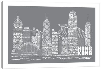 Hong Kong, Slate Canvas Art Print