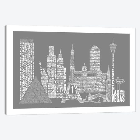 Las Vegas, Gray Canvas Print #AAA35} by Citography Canvas Print