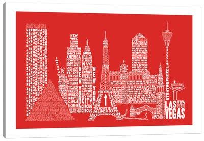 Las Vegas, Red Canvas Art Print