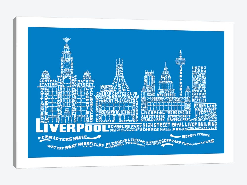 Liverpool, Cobalt by Citography 1-piece Art Print
