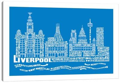 Liverpool, Cobalt Canvas Art Print