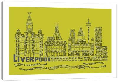 Liverpool, Lime & Gray Canvas Art Print