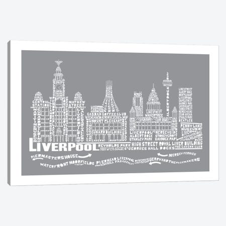 Liverpool, Slate Canvas Print #AAA44} by Citography Canvas Art