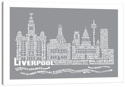 Liverpool, Slate Canvas Art Print