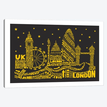 London By Night Canvas Print #AAA45} by Citography Canvas Artwork