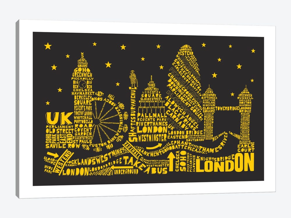 London By Night by Citography 1-piece Canvas Artwork