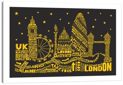London By Night Canvas Art Print