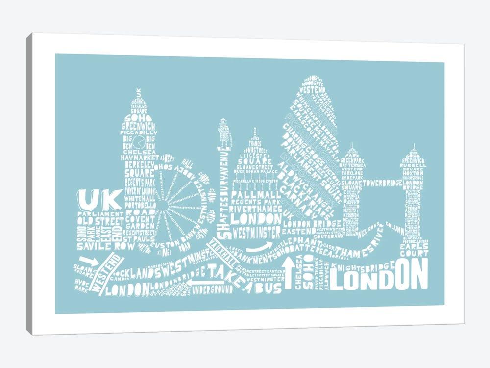 London, Aqua by Citography 1-piece Art Print