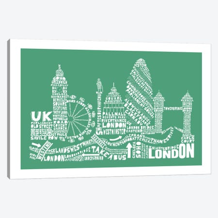 London, Rosemary Canvas Print #AAA49} by Citography Canvas Print