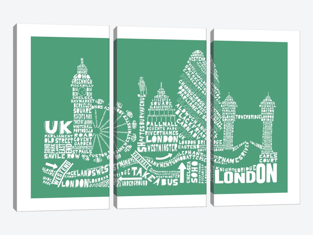 London, Rosemary by Citography 3-piece Canvas Wall Art