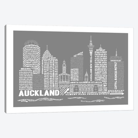 Auckland, Slate Canvas Print #AAA4} by Citography Canvas Print