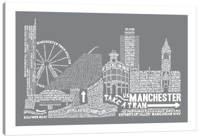 Manchester, Slate Canvas Art Print