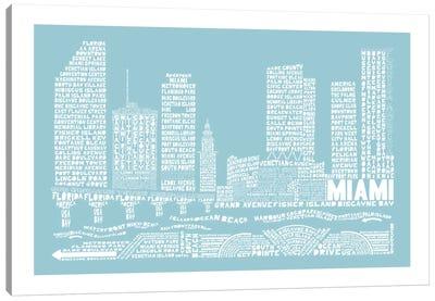 Miami, Aqua Canvas Art Print