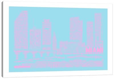 Miami, Faded Neon Canvas Art Print