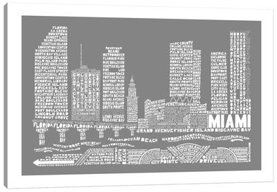 Miami, Slate Canvas Art Print