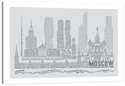 Moscow, Dove Gray Canvas Art Print