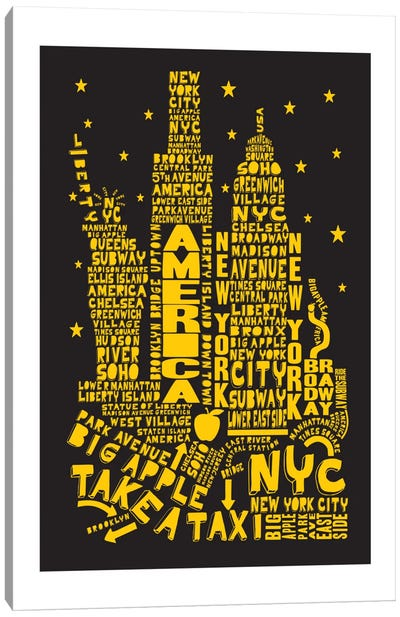 New York City By Night Canvas Print #AAA58