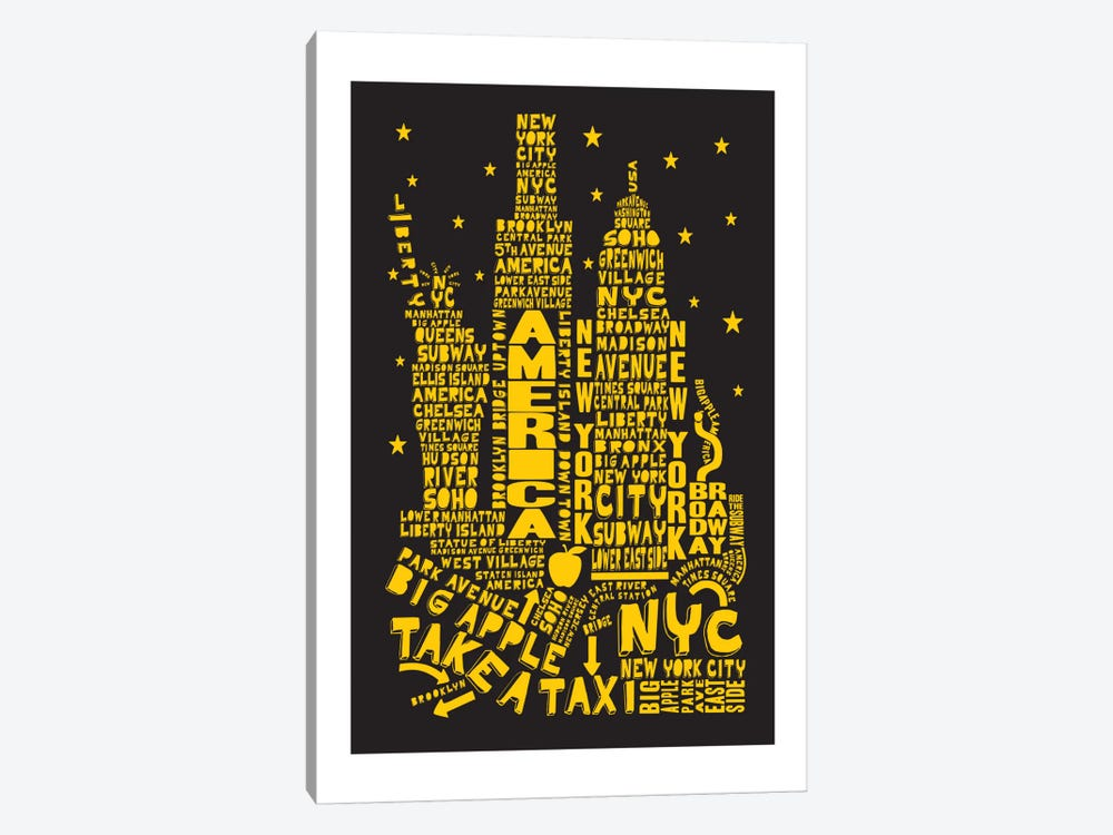 New York City By Night by Citography 1-piece Canvas Art