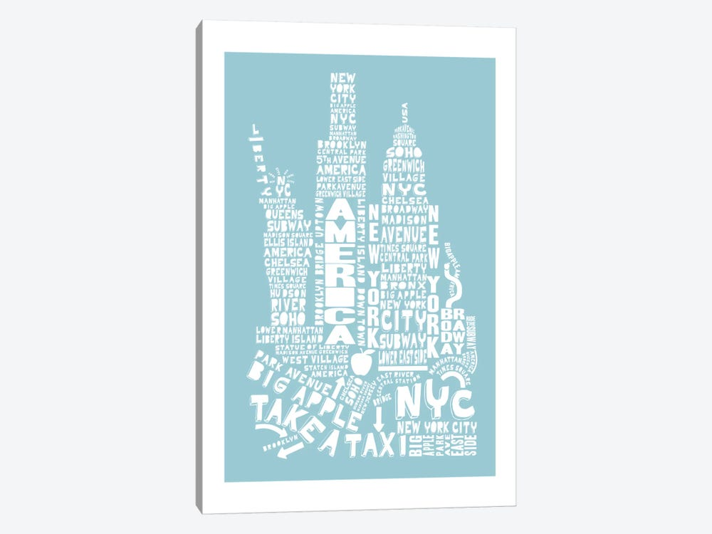 New York City, Aqua by Citography 1-piece Art Print