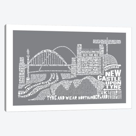 Newcastle Upon Tyne, Slate Canvas Print #AAA66} by Citography Canvas Art
