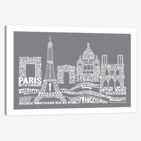 Paris, Slate Canvas Print #AAA69} by Citography Canvas Print