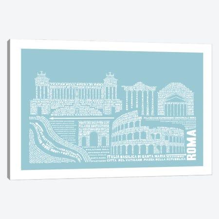 Rome, Aqua Canvas Print #AAA71} by Citography Canvas Artwork
