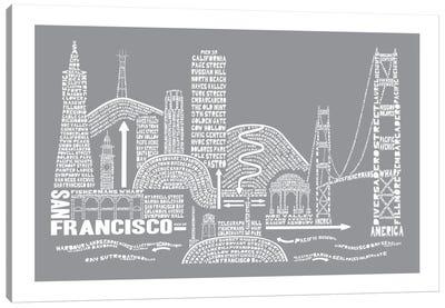 San Francisco, Slate Canvas Art Print