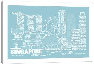 Singapore, Aqua Canvas Print #AAA77