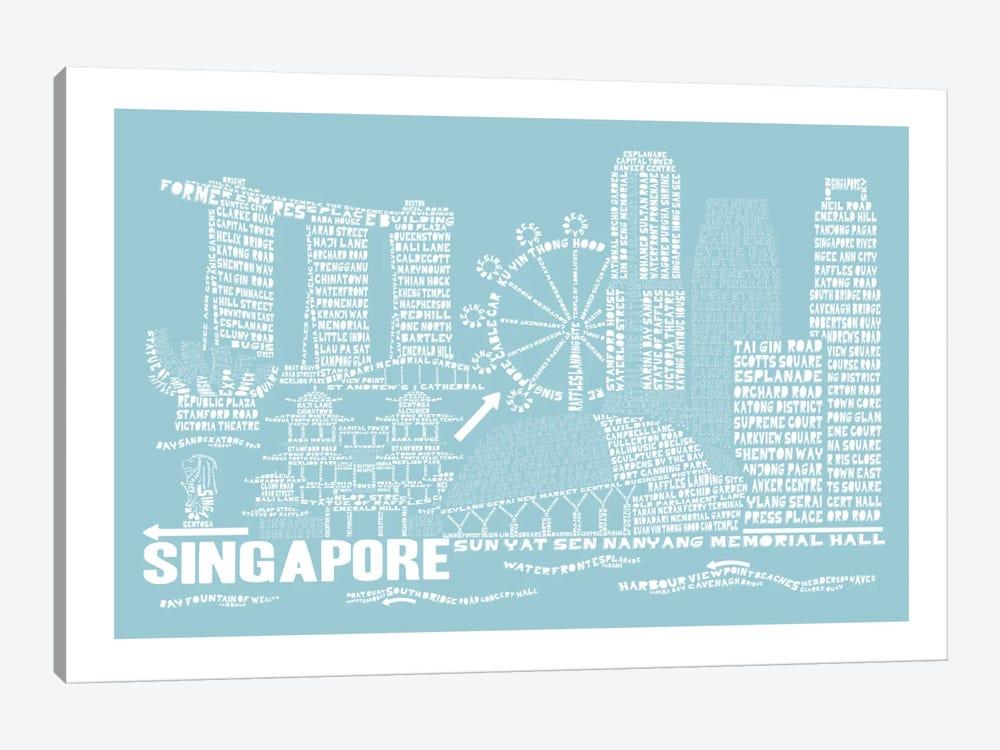 Singapore, Aqua by Citography 1-piece Art Print