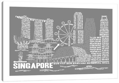 Singapore, Slate Canvas Art Print