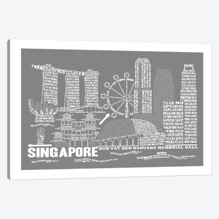 Singapore, Slate Canvas Print #AAA78} by Citography Canvas Artwork