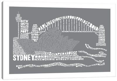 Sydney, Slate Canvas Print #AAA82
